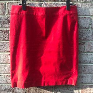 Banana Republic Red Pencil Skirt